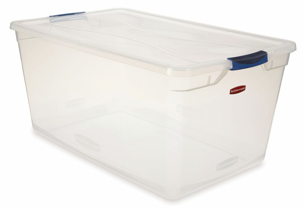 Rubbermaid 89.9L Clear Clever Store Tote