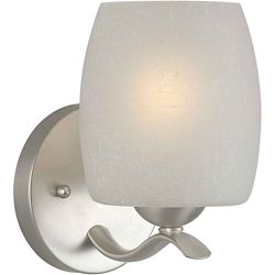 Filament Design Burton 1 Light Wall Brushed Nickel  Incandescent Bath Vanity