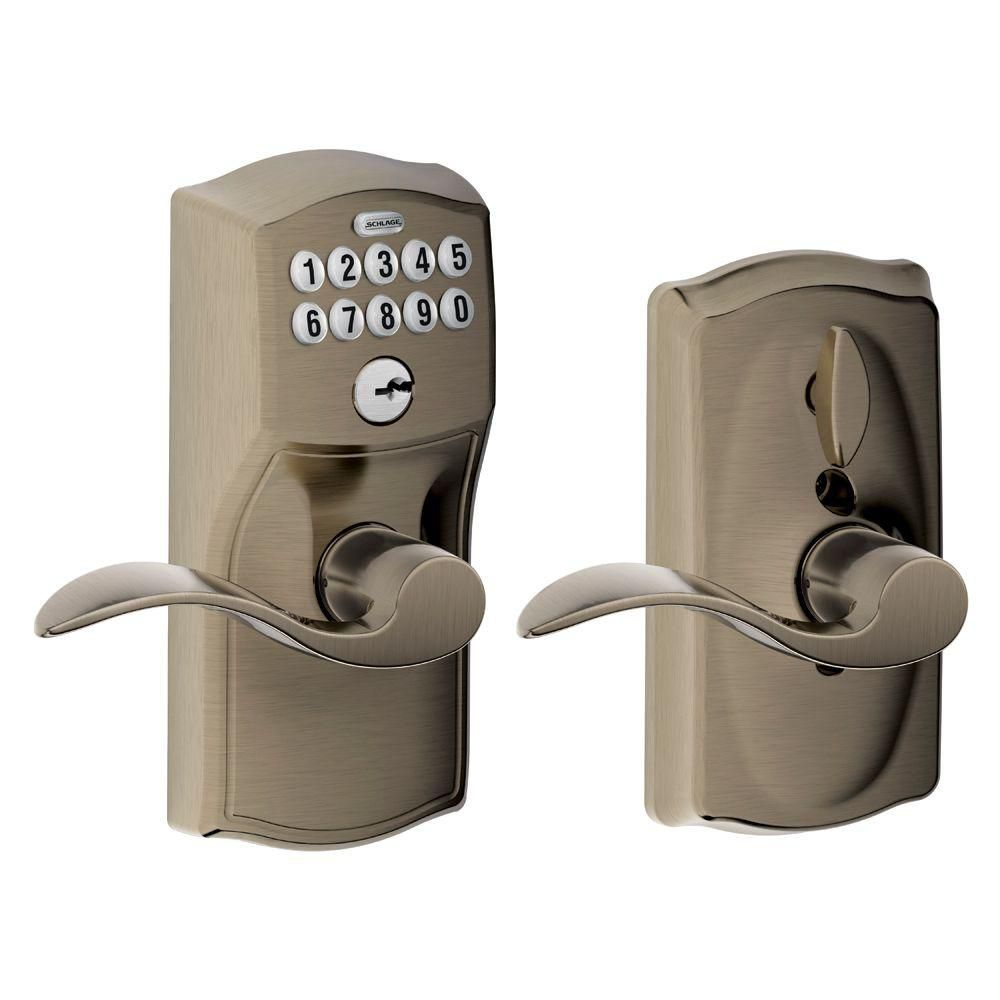 Camelot Accent Antique Pewter Keypad Lock Lever