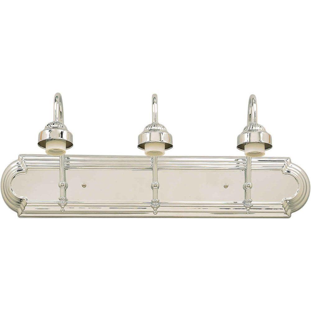 Burton 3-Light Wall Chrome Bath Vanity