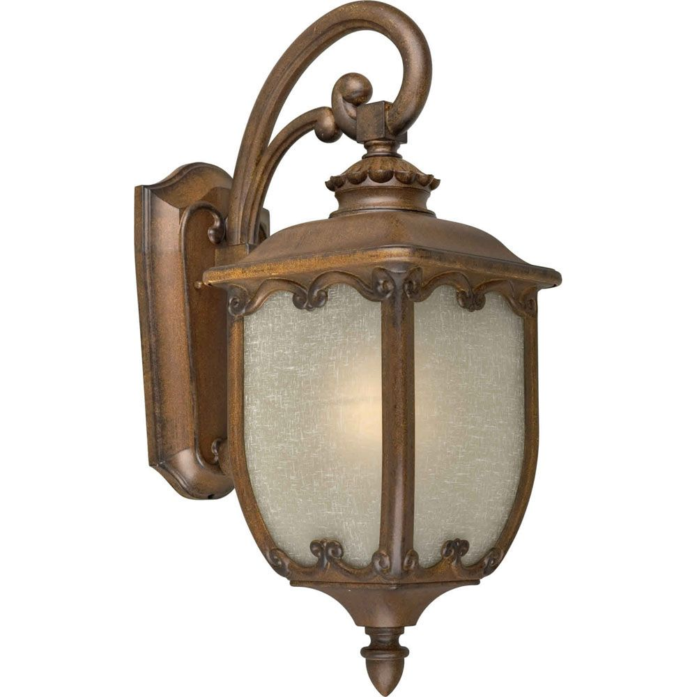 Burton 1 Light Rustic Sienna Outdoor Incandescent Wall Light CLI-FRT18180141 in Canada