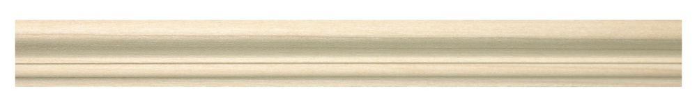 Capuchon en bois blanc dur 3/4 po X 1-1/4 po - prix par pièce 8 pied