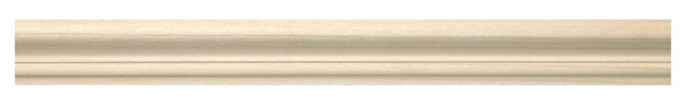 White Hardwood Base Cap 3/4 X 1-1/4 - Sold Per 8 Foot Piece
