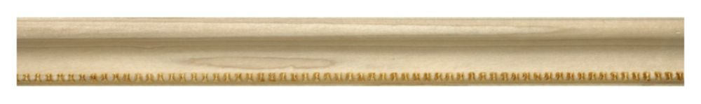 Ornamental Mouldings White Hardwood Embossed Bead Base Cap 3/4 X 1-1/4 - Sold Per 8 Foot Piece