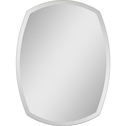 Notre Dame Design 24-inch x 32-inch 4-Point Oval Frameless Glass Mirror