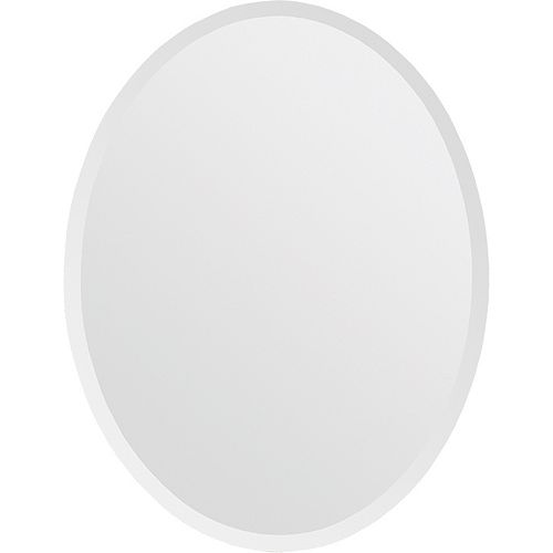 Notre Dame Design 22-inch x 28-inch Oval Frameless Glass Mirror
