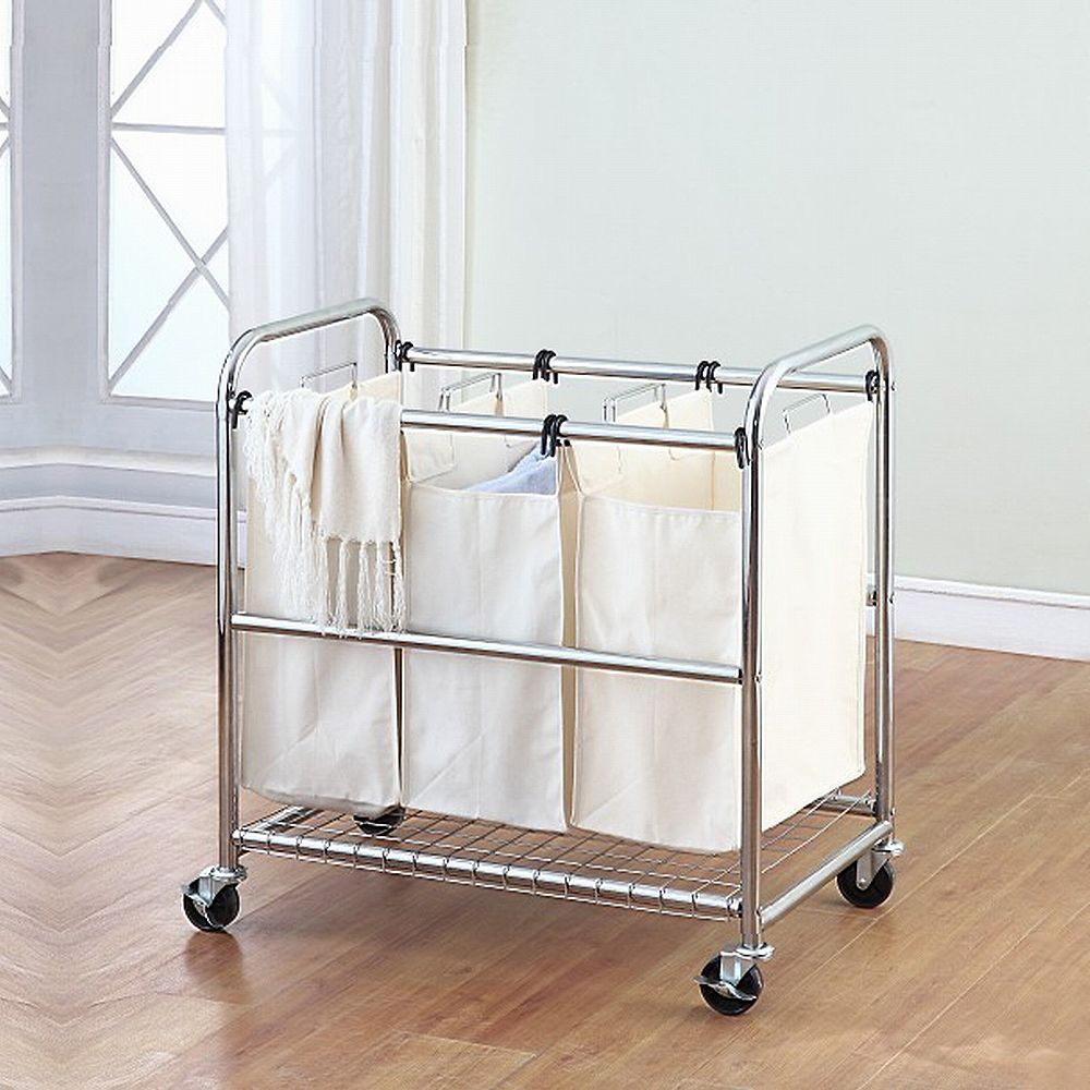 Perfect Home Essentials Triple Laundry Sorter