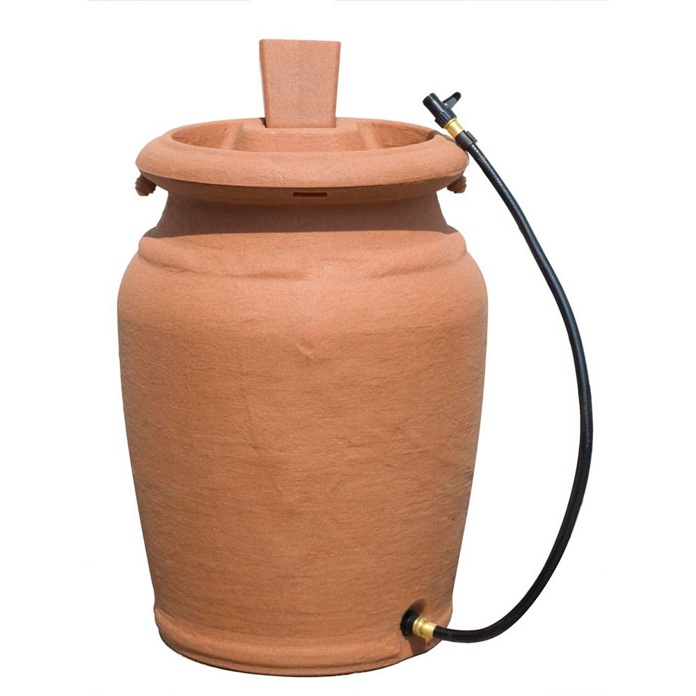 Forest City Models 205 L Urn Style Rain Barrel with Planter