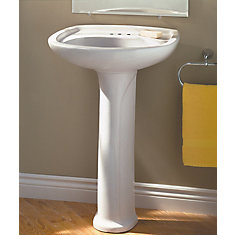 home depot bathroom sink. marina 4-inch bathroom pedestal sink basin in white home depot o