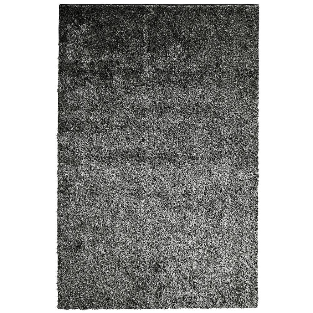 Silk Reflections Black 3 ft. x 5 ft. Indoor Shag Rectangular Area Rug