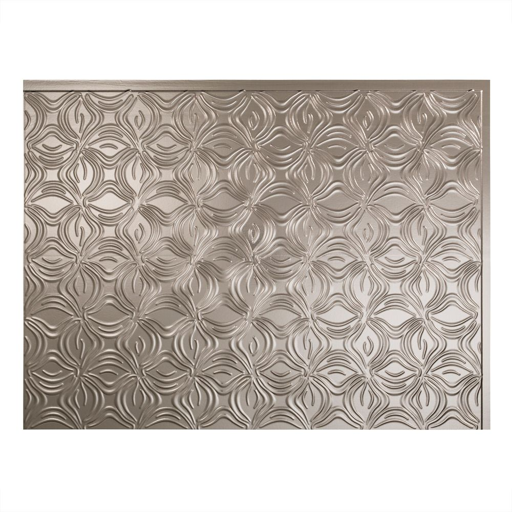 Lotus Brushed Nickel Backsplash