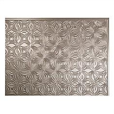 Lotus Brushed Nickel 18 inch x 24 inch PVC Backsplash Panel