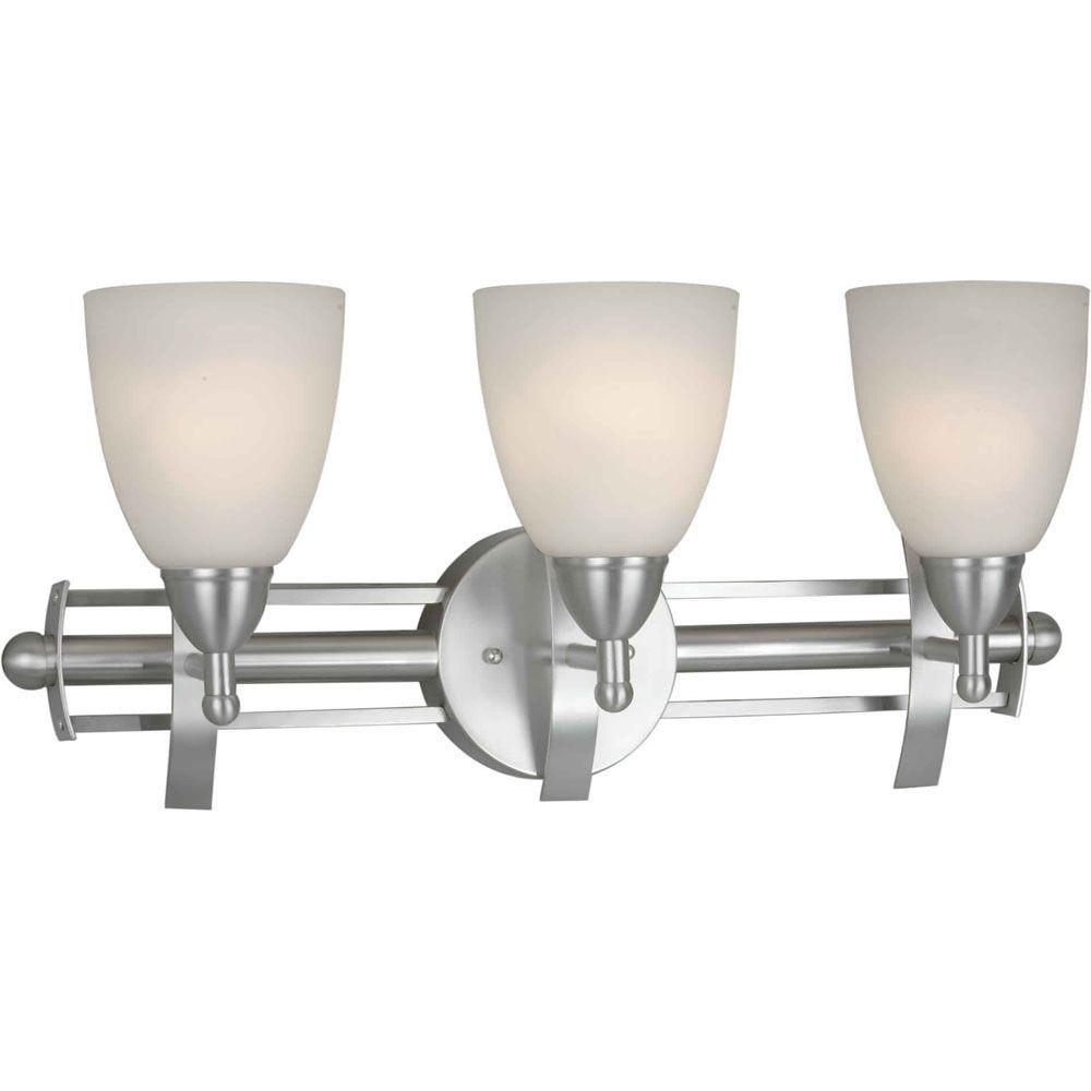 Burton 3-Light Wall Brushed Nickel Bath Vanity