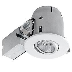Globe Electric 5-inch Sleek White Directional Recessed Lighting Kit
