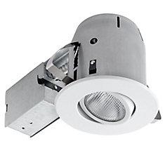 90480  5 pouces élégant kit directionnel éclairage encastré, blanc
