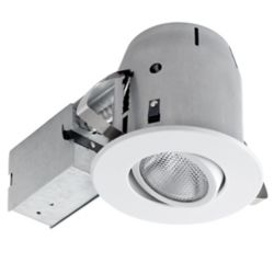 Globe Electric 5-inch Sleek White Directional Recessed Lighting Kit