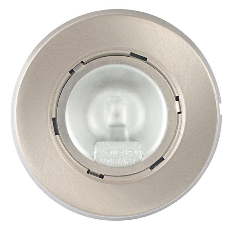 Under Cabinet 20 Watt Xenon Puck Light, Brushed Nickel Finish, 3 Pack
