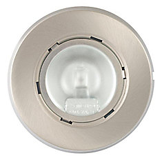 Under Cabinet 20 Watt Xenon Puck Light, Brushed Nickel Finish, 3 Pack