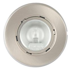 Globe Electric Under Cabinet 20 Watt Xenon Puck Light, Brushed Nickel Finish, (3-Pack)