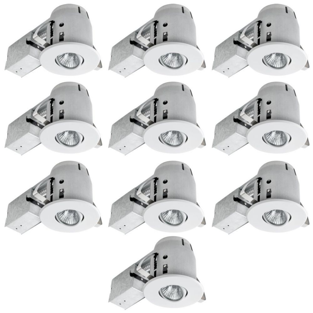 Globe Electric 4-inch Recessed Lighting Kit in White (10-Pack)