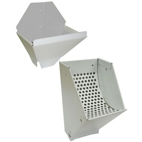 Gutter Leaf Catcher And Funnel Combo - White