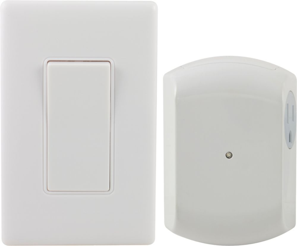 Remote Control Outdoor Wall Lights : Defiant Wireless Remote Wall Switch Light Control The Home Depot Canada