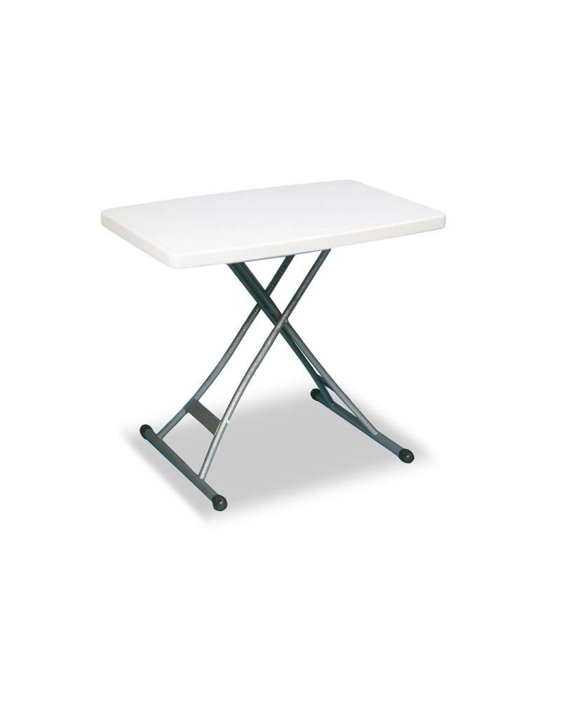 Adjustable Table 20 Inch X 30 Inch White