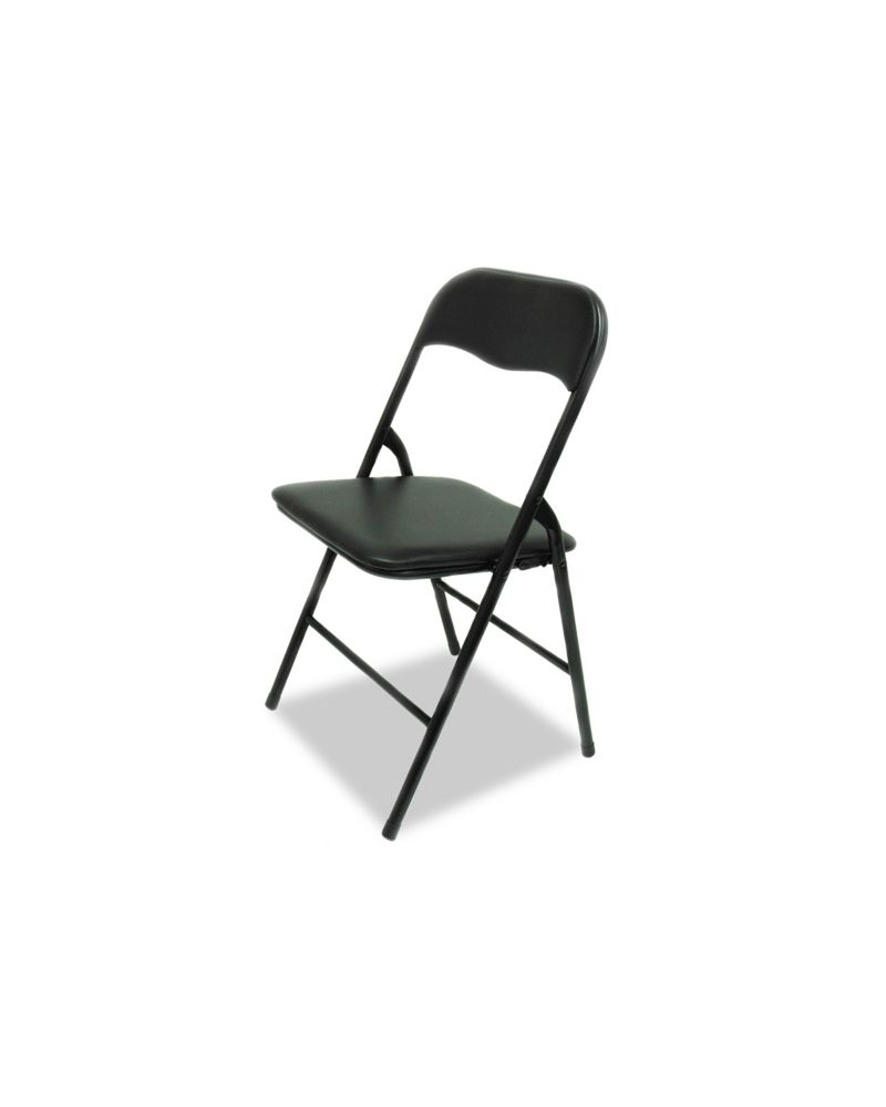 Padded Black Folding Chair