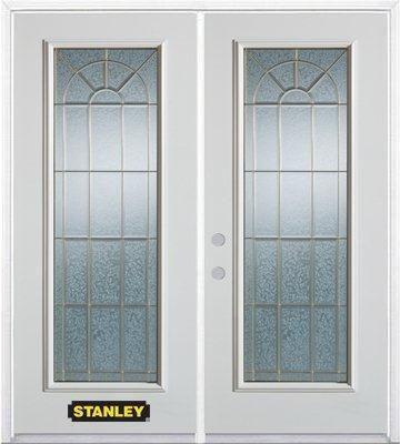 stanley doors porte dentr e double en acier pr fini blanc munie d 39 un panneau de verre 74 po x. Black Bedroom Furniture Sets. Home Design Ideas