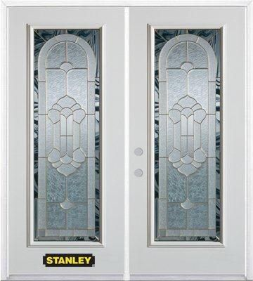 70-inch x 82-inch Radiance Full Lite White Double Steel Door with Astragal and Brickmould