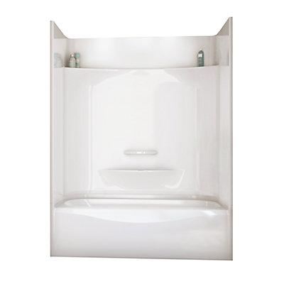 2 piece tub shower. Essence 6030 4 Piece Tub Shower Left Hand Drain MAAX  The Home