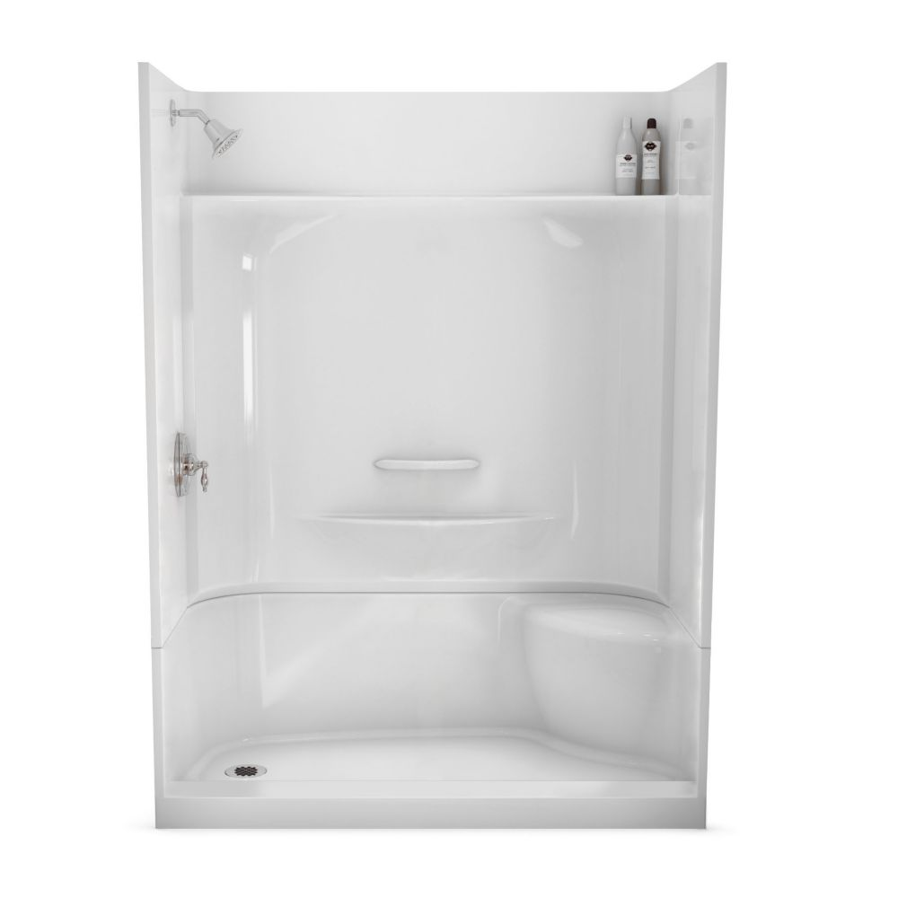 Essence 60-Inch  x 30-Inch  4-Piece Shower Stall in White