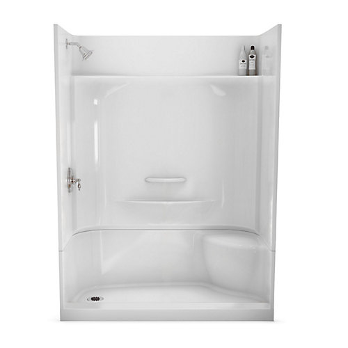 Maax Essence 60 Inch X 30 Inch 4 Piece Shower Stall In White The