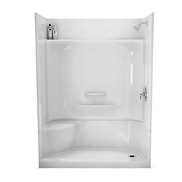 MAAX Essence 60-Inch x 30-Inch 4-Piece Shower Stall in White   The ...