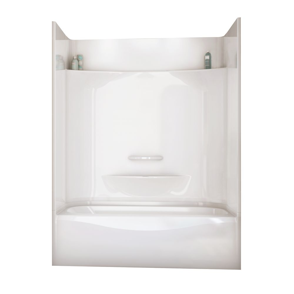 MAAX Essence 6030 60-inch x 80.6-inch x 31-inch 2-shelf fibreglass 4-Piece Right Hand Drain Tub & Shower