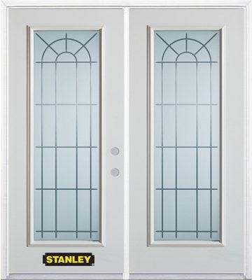 66-inch x 82-inch Chablis Full Lite White Double Steel Door with Astragal and Brickmould