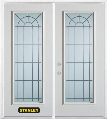 74-inch x 82-inch Chablis Full Lite White Double Steel Door with Astragal and Brickmould