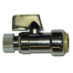 Waterline Push'n'connect Compression Straight Stop With Stiffener