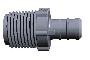 Accucrimp Engineered Plastic Male Adapter