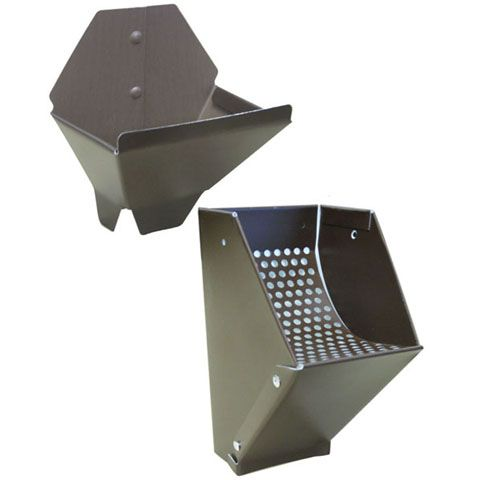 Gutter Leaf Catcher And Funnel Combo - Brown
