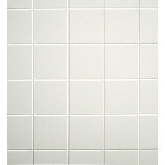 Aquatile X X Snow Cap Tileboard The Home Depot Canada - Aquatile wall panels