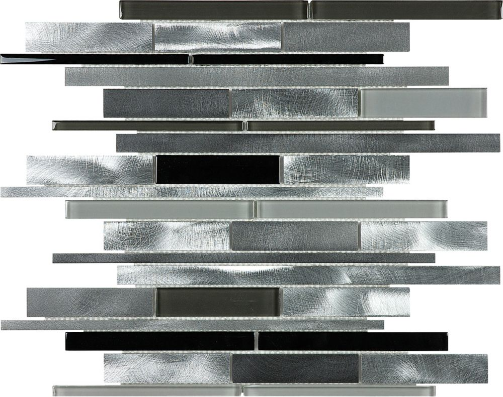 Carbon Blend Random Strip Mosaics