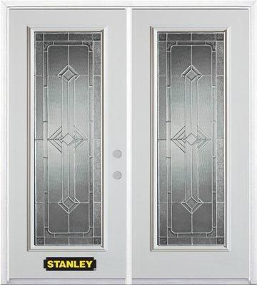 66 In. x 82 In. Full Lite Pre-Finished White Double Steel Entry Door with Astragal and Brickmould 1532PX2-32-L in Canada
