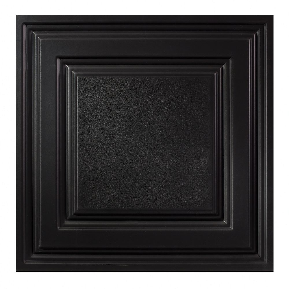 2  Feet x 2  Feet Icon Relief Black Lay In Ceiling Tile
