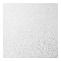 2  Feet x 2  Feet Stucco Pro White Lay In Ceiling Tile