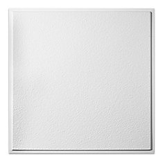 2  Feet x 2  Feet Stucco Pro Revealed Edge White Lay In Ceiling Tile