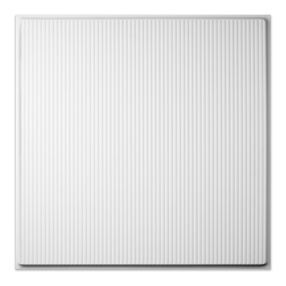 2  Feet x 2  Feet Contour Pro Revealed Edge White Lay In Ceiling Tile