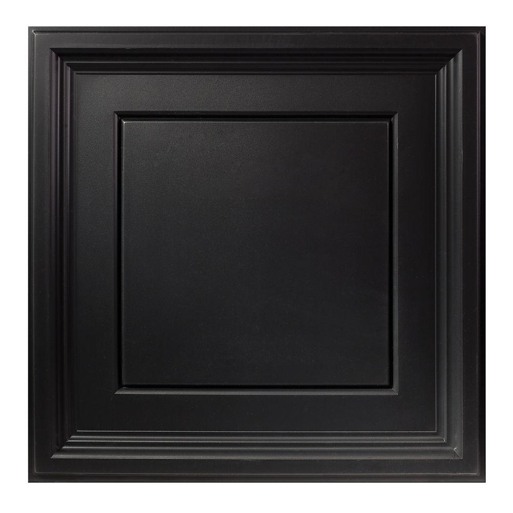 2  Feet x 2  Feet Icon Coffer Black Lay In Ceiling Tile