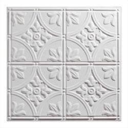 Genesis 2  Feet x 2  Feet Antique White Lay In Ceiling Tile