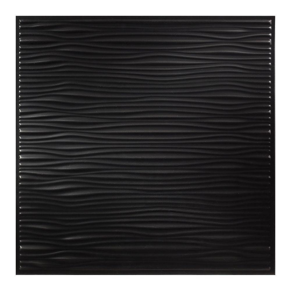 2  Feet x 2  Feet Drifts Black Lay In Ceiling Tile